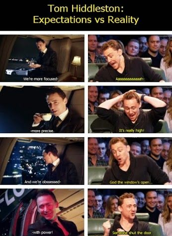 """This is great!! Tom is the best! Nice to see his not-so-""""badass"""" side!! As much as I like the """"expectation"""" side, I LOVE the """"reality"""" side!!"""
