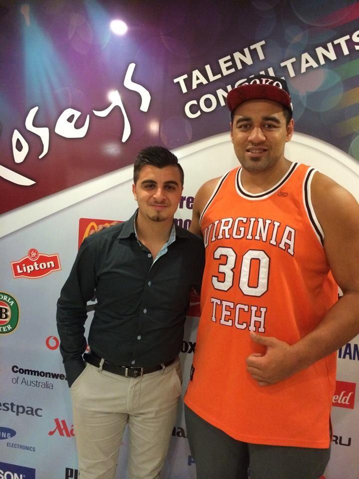 Josh with Sam Kasiano (Canterbury Bankstown Bulldogs Player)