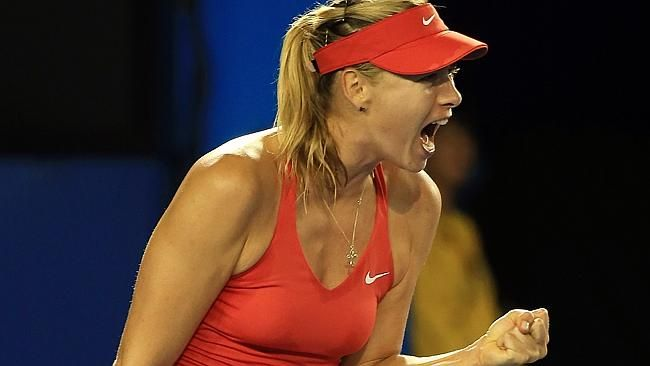 Maria Sharapova tried hard but couldn't match the champ. Picture: Alex Coppel.