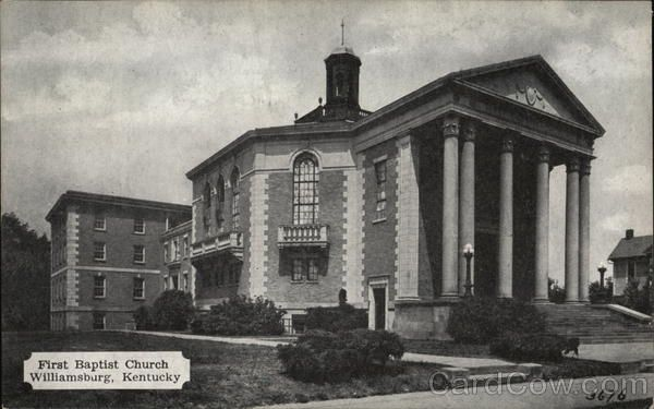 First Baptist Church Williamsburg Ky Postcard With Images