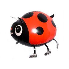Gående Nyckelpiga röd Heliumballong