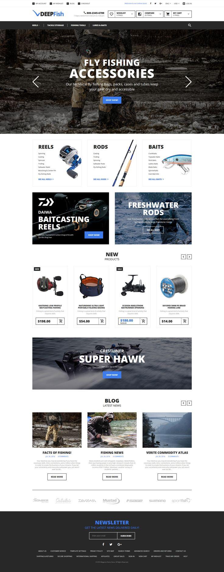 DeepFish - Fishing Store Magento Theme…