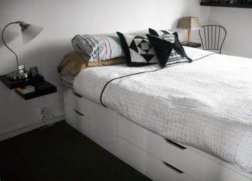 bedroom - storage bed: Ikea Stolman chests with some lacks (to fit) (tutorial) ***
