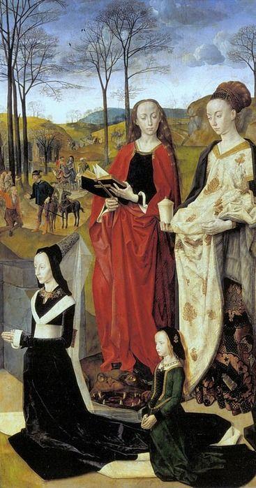 """Правая часть триптиха """"Алтарь Портинари"""" около 1474–1475"""