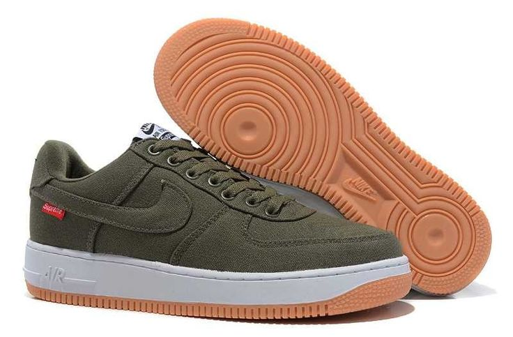 SITE OFFICIEL NIKE AIR FORCE 1 LOW HOMME CANVAS DARK VERT CHAUSSURES