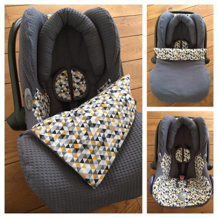 Maxi Cosi set Donker grijs/Triangel - Cabrio Fix