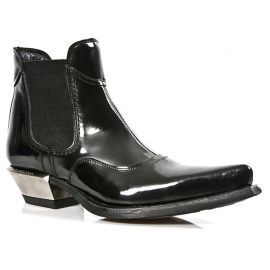Bottines West Noires Vernies M.7970-C10