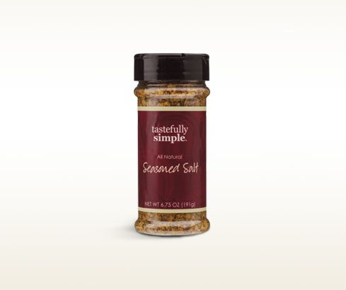Love this stuff! Great on chicken and steamed veggies! - Tastefully Simple's Seasoned Salt - a unique blend of spices, vegetables and sea salt adds zest to almost everything.