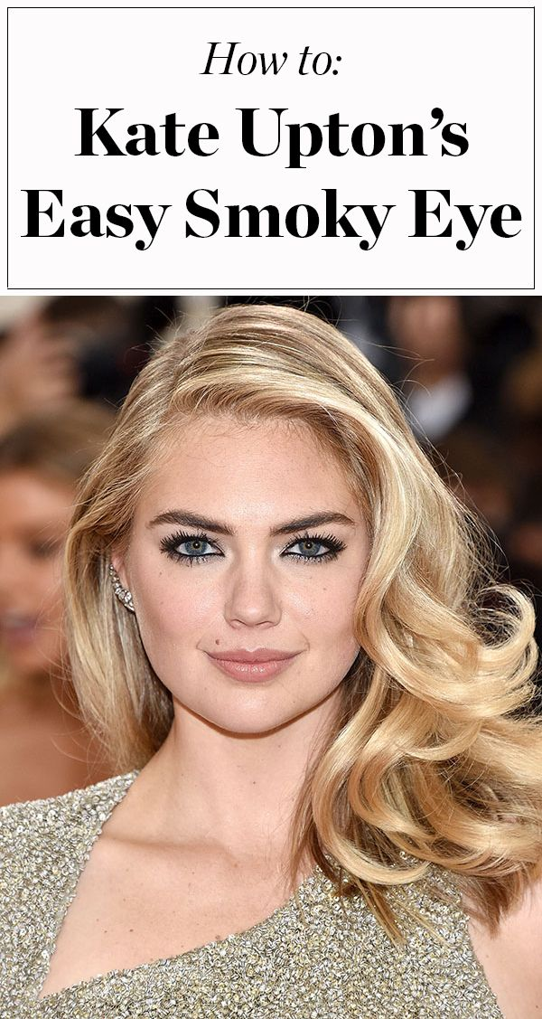 All you need to recreate Kate Upton's sexy, easy smoky eye makeup is a black eye pencil! Click through for the how-to from Kate's makeup artist