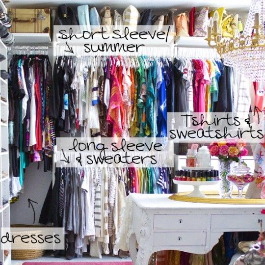 17 best images about organization on pinterest closet for How to color organize your closet