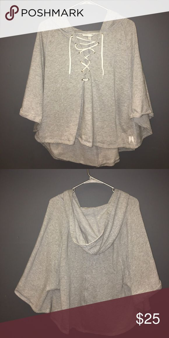 Victoria Secret Poncho Sweater Worn & washed once . VS . Grey . Poncho . Wear it all year round Sweaters