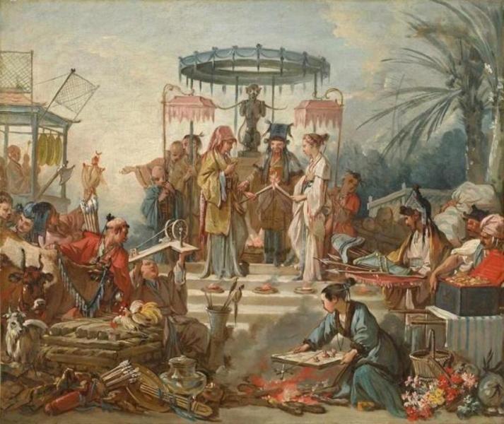 François Boucher - Le mariage chinois