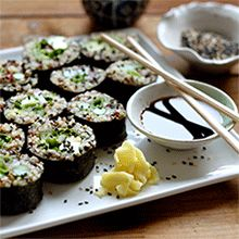 Quinoa Spring Sushi + DIY Quick-Pickled Ginger | My New Roots -protein packed homemade sushi! ~T
