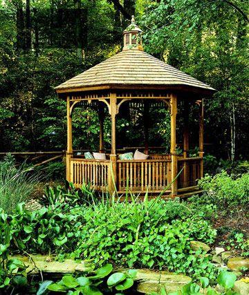 Die 25+ Besten Ideen Zu Pavillon Im Freien Auf Pinterest ... Holz Pavillon Im Garten Bauarten