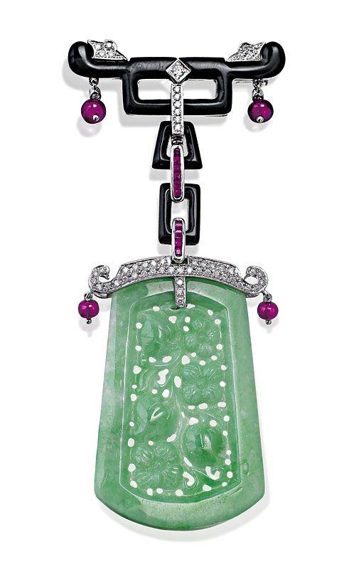 Jade, onyx, ruby and diamond… - Fine Jewellery - Sotheby's Australia - Antiques Reporter