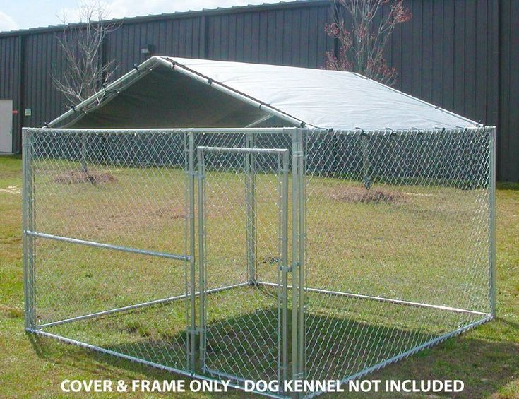 Dog House Cover 10 x 10 Kennel Canopy Outdoor Roof Cage Pen Crate Large Top #DogHouseCover