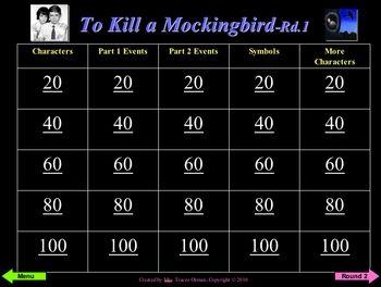 Review games, To kill a mockingbird and Kill a mockingbird ...