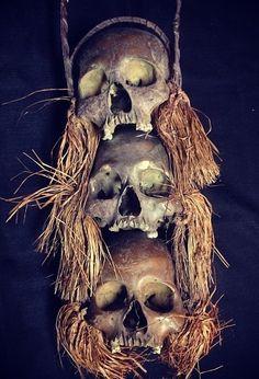 Voodoo Witch Doctor with Shrunken Head Tattoo | Halloween Ideas: Voodoo/Swamp