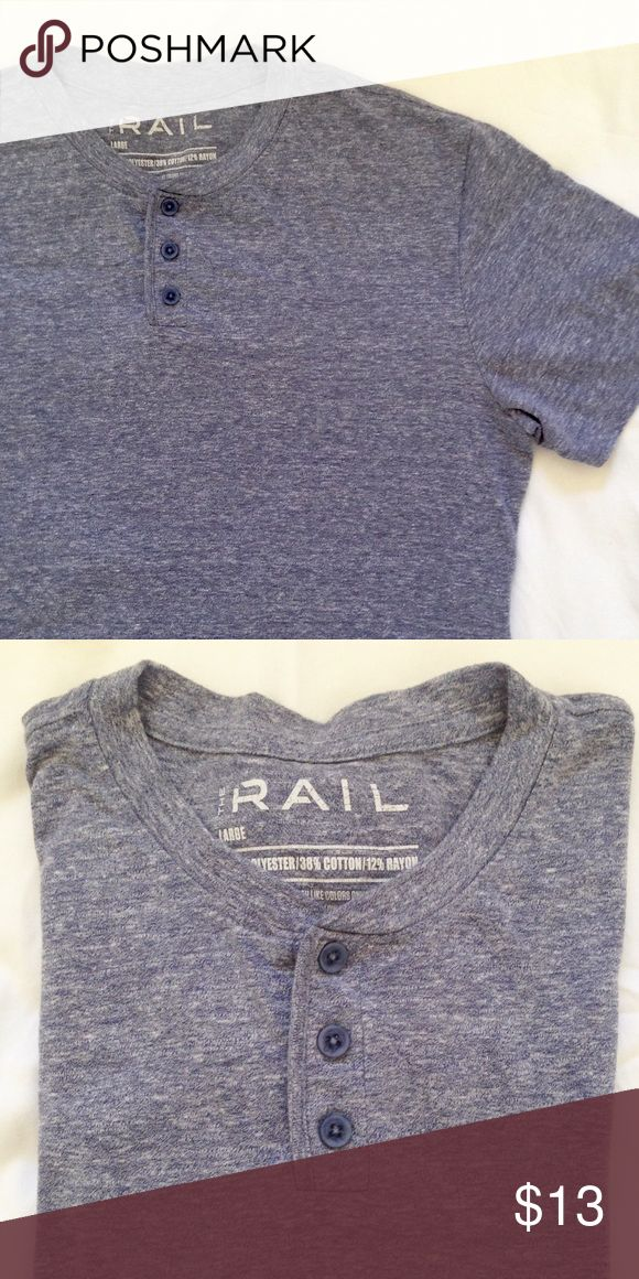 Men's Henley Tee Heathered blue henley tee. Lightweight and soft. Hardly worn and almost like brand new. A great staple for a men's closet. Shirts Tees - Short Sleeve