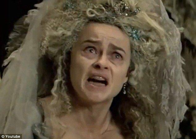 Scary sight: Helena Bonham Carter appears haggard as Miss Havisham in Mike Newell's adaptation of the Charles Dickens story
