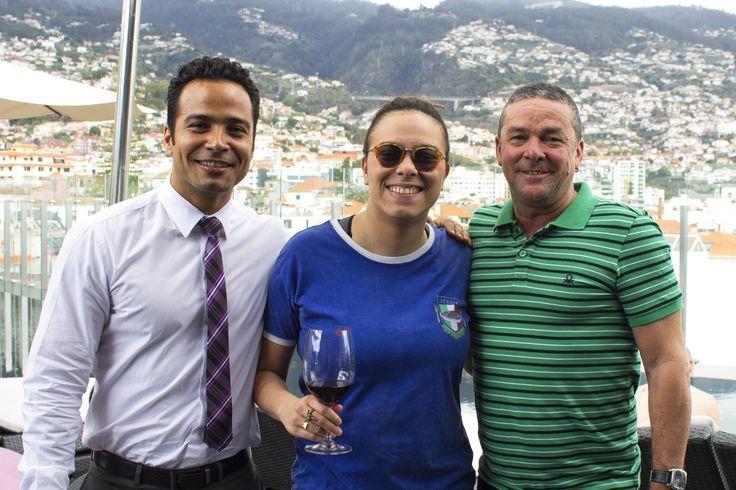 Maria Gadú e Hermano Maia no The Vine acompanhados por Charles Duailibi nosso guest relations.