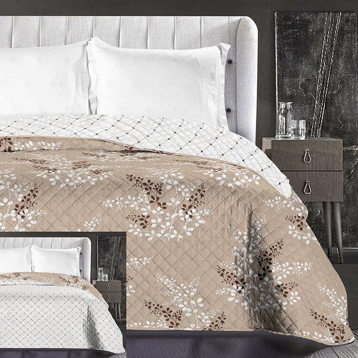 Kvalitní přehoz na postel béžové barvy