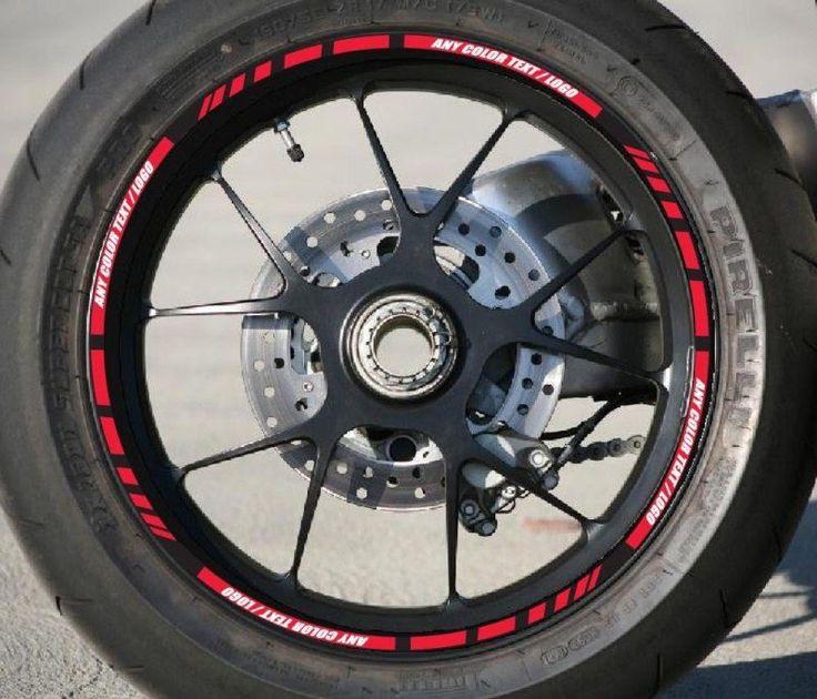 Custom Motorcycle Car Sportbik Rim Stripes Wheel Decal Tape - Custom motorcycle stickers and decals