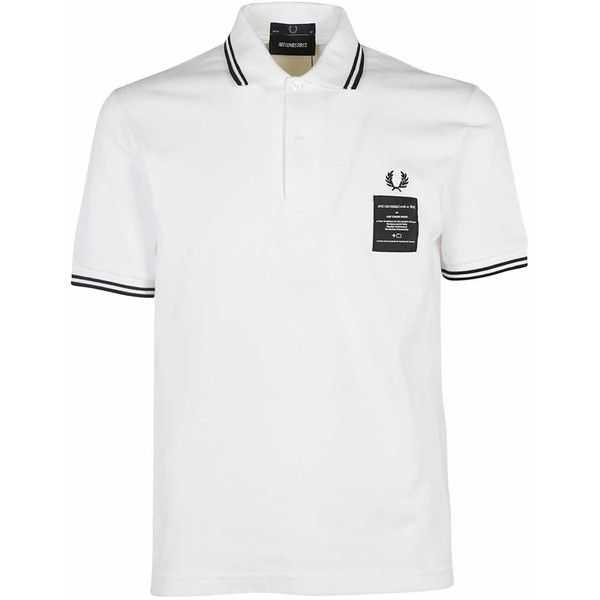 Patch Logo Polo Shirt ($84) ❤ liked on Polyvore featuring men's fashion, men's clothing, men's shirts, men's polos, bianco, mens elbow patch shirt, mens short sleeve shirts, mens short sleeve polo shirts, mens white short sleeve shirt and mens polo shirts