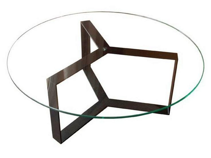 SÉVERIN Round coffee table by Alex de Rouvray design design Alex de Rouvray