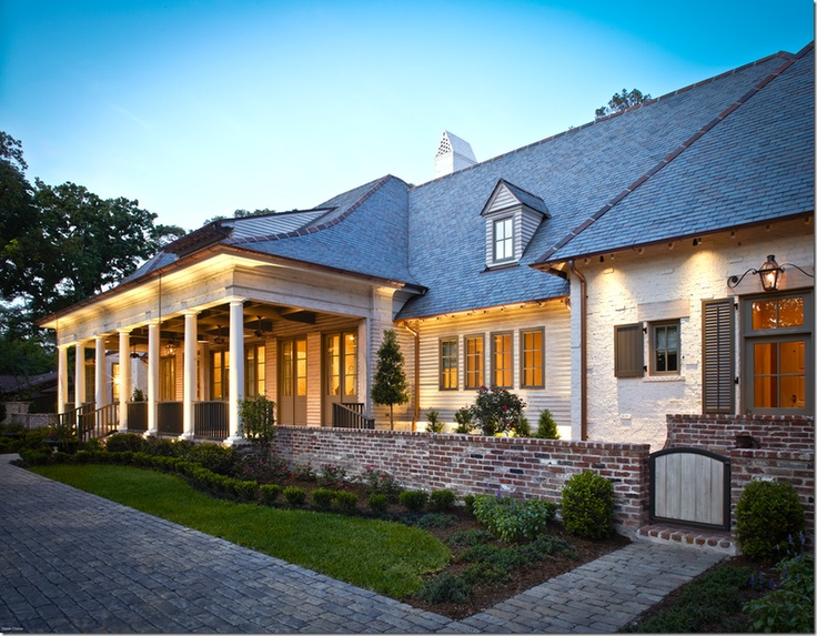 74 best exterior images on pinterest arquitetura for Acadian home builders