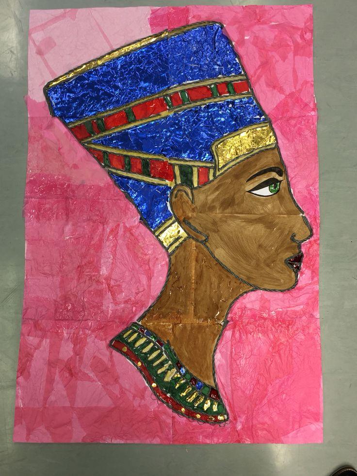 Collaborative collage of Queen Nefertiti