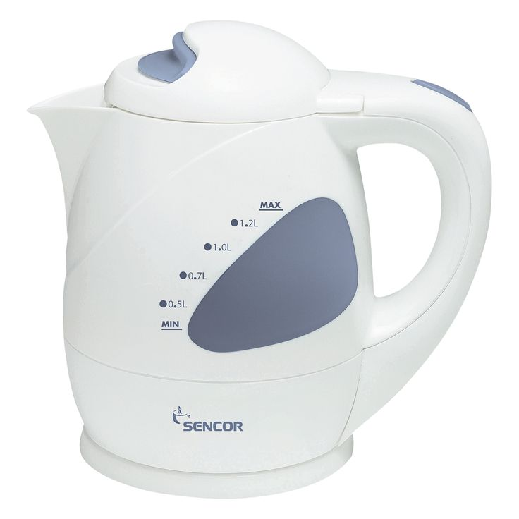Sencor Kettle SWK 1200 - Heating base from stainless steel with a covered heating spiral - Protection against overheating when turned on without water - Central 360° connector