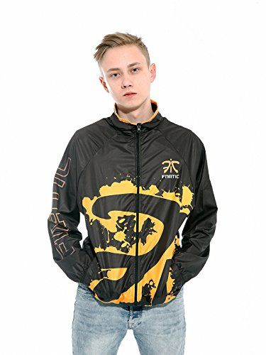 Fnatic Mens Player Microfiber Jacket X-Large Black/Orange