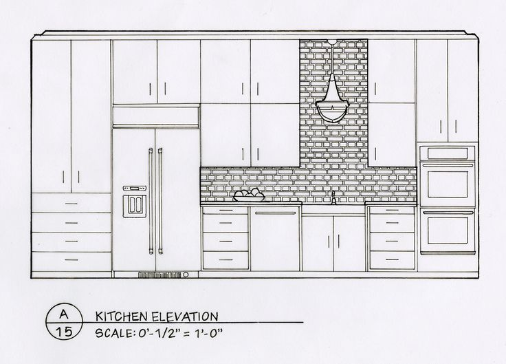 21 best kitchen drawings plan  elevation  section images on pinterest