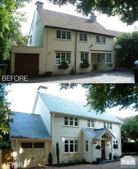 Complete renovation of this lovely Berkshire home by Back to Front Exterior Design