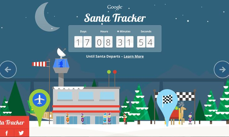 Google Santa Tracker: every day a new little video or game. Fun, free way to countdown to Christmas.