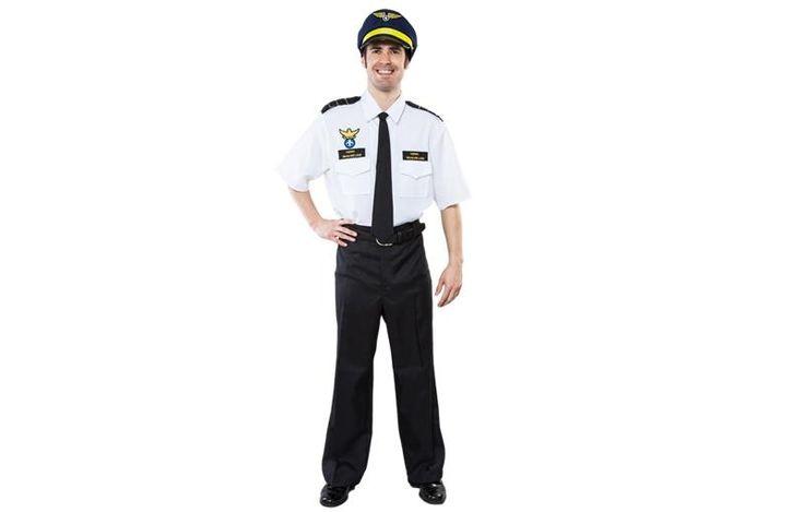 DisfracesMimo, disfraz comandante de aviones para hombre adulto talla m/l.Con este disfraz de piloto adulto es ideal para tus fiestas de disfraces o para Celebraciones como las Despedidas de Soltero.Este disfraz es ideal para tus fiestas temáticas de disfraces de uniformes de trabajo y pilotos y azafatas de vuelo para hombre adultos.
