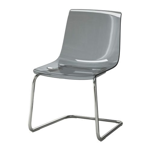 Possible; if I go with a larger dining table, instead of buying 4 more of the stupidly expensive chairs, I can add these to the sides.  TOBIAS Chair - gray/chrome plated - IKEA  $80.00