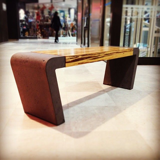 POPconcrete Istu Bench in the Myer Centre Adelaide