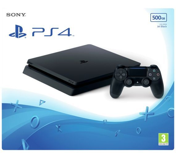 Buy PS4 Slim 500GB Console - Black at Argos.co.uk, visit Argos.co.uk to shop online for PS4 consoles, PS4, Video games and consoles, Technology