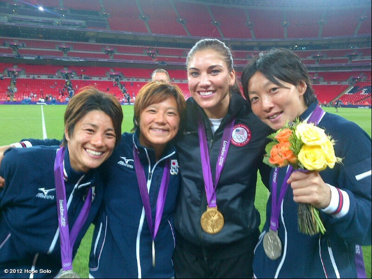 Sportsmanship!!!  ...  Hope Solo - USA Olympic Gold Medal