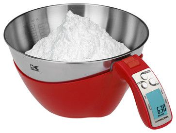 Kalorik Red iSense Food Scale contemporary-kitchen-scales