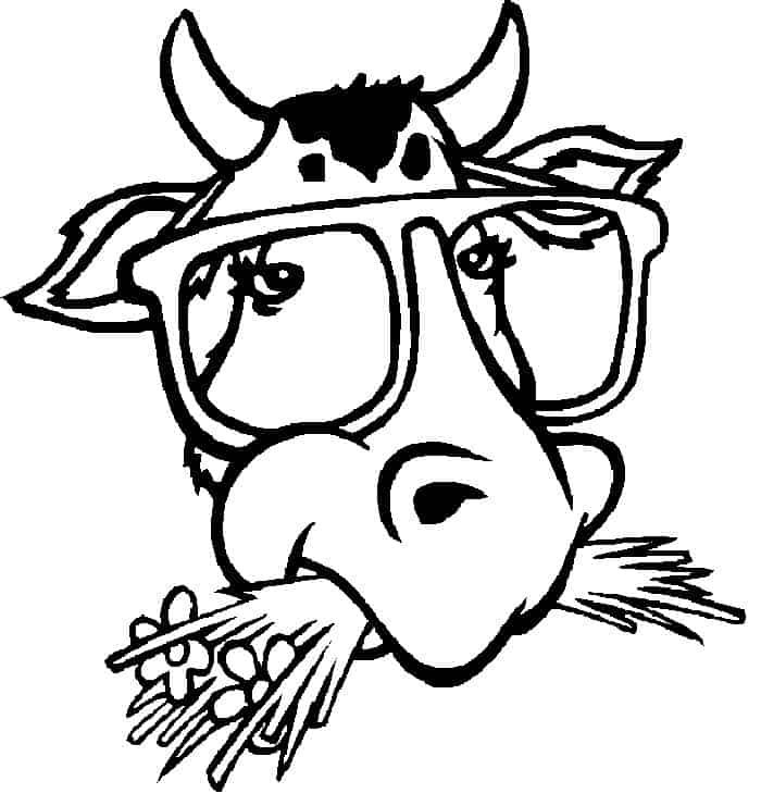 Cow Face Coloring Pages In 2020 Cow Coloring Pages Animal Coloring Pages Elephant Coloring Page