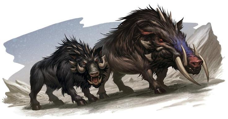 Monster Manual: Dire Boars | D&D Official Art | Pinterest ...