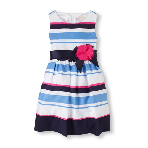 striped rosette dress / the children's place