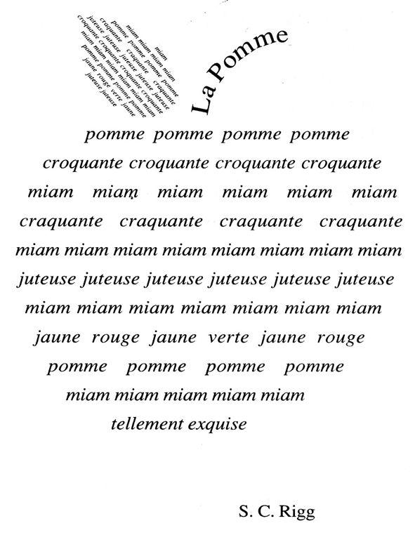 Guillaume Apollinaire (1880 - 1918) a écrit de célèbres calligrammes. Nous en avons lu quelques-uns.