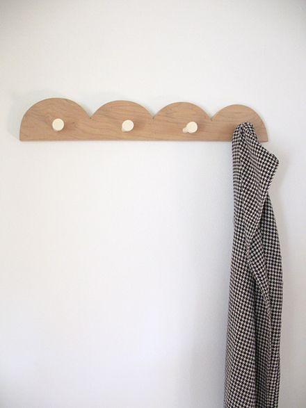 """Waka Waka"" scallop coat rackWoodworking Ideas, Iko Iko, Coats Racks, Waka Waka, Kids Room, House, Coat Racks, Products, Scallops Coats"