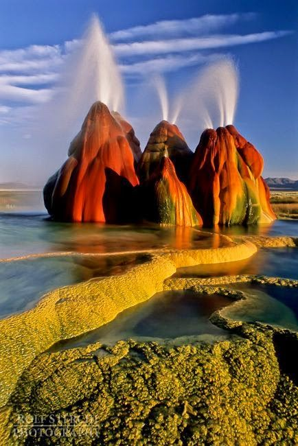 Fly Geyser - Black Rock Desert, Nevada