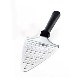 This unique pizza spatula is perforated for easier release of the pizza slice!