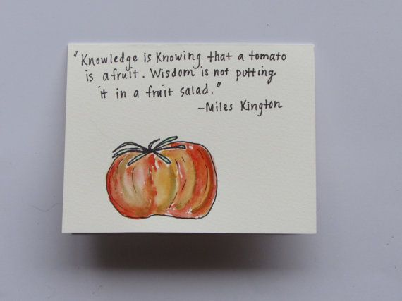 Miles Kington Quote Handmade Greeting Card by AnnaJaynesDesigns, $3.95